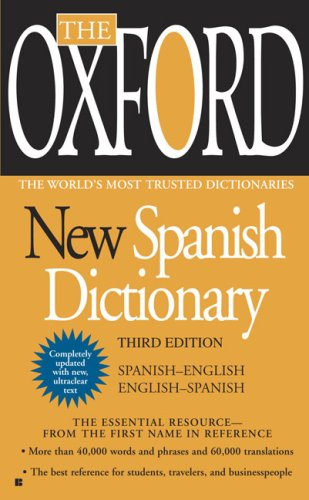 Oxford New Spanish Dictionary  3rd 2010 edition cover
