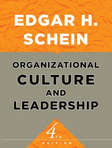 Organizational Culture and Leadership  4th 2010 edition cover