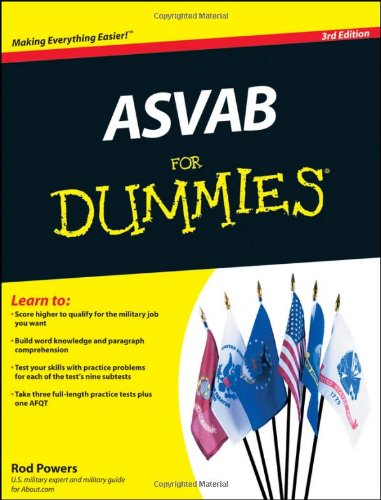 ASVAB for Dummies  3rd 2011 edition cover