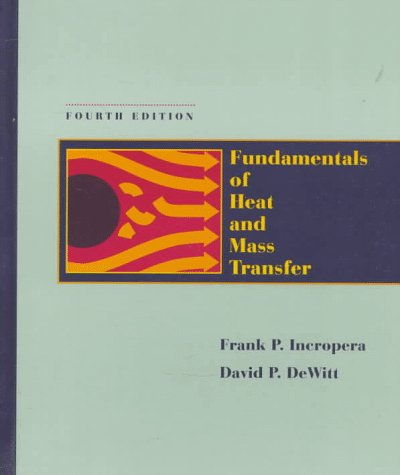 Fundamentals of Heat and Mass Transfer  4th 1996 edition cover