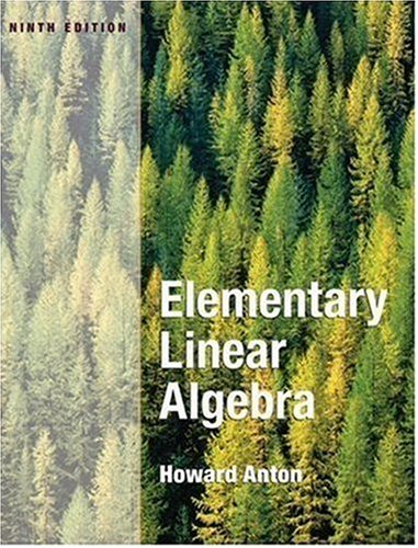 Elementary Linear Algebra  9th 2005 (Revised) edition cover