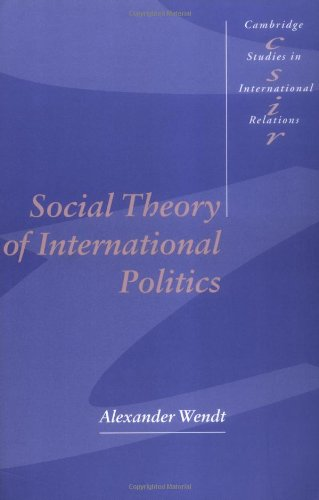 Social Theory of International Politics   1999 edition cover