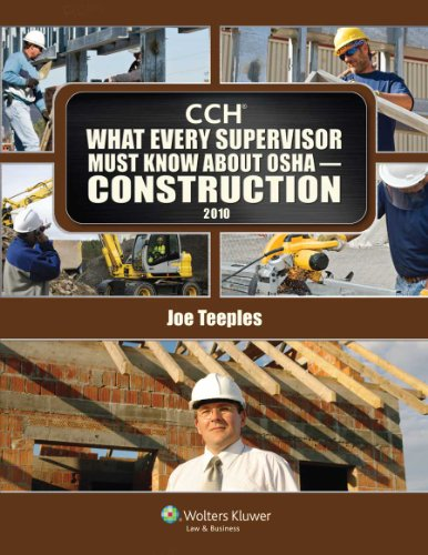 What Every Supervisor Must Know about OSHA- Construction 2010 N/A edition cover