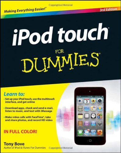 iPod Touch for Dummies�  3rd 2012 9781118129609 Front Cover