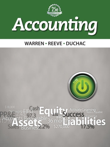Accounting Principles  25th 2014 edition cover