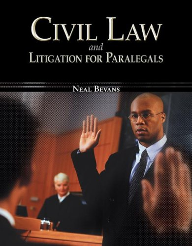 Civil Law and Litigation for Paralegals   2008 9780073524610 Front Cover