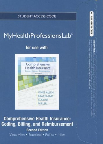 Comprehensive Health Insurance Coding, Billing, and Reimbursement 2nd 2013 (Revised) edition cover
