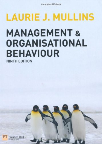 Management and Organisational Behaviour  9th 2010 (Revised) 9780273728610 Front Cover