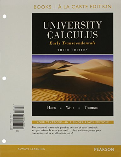 University Calculus, Early Transcendentals: Books a La Carte Edition  2015 9780321999610 Front Cover