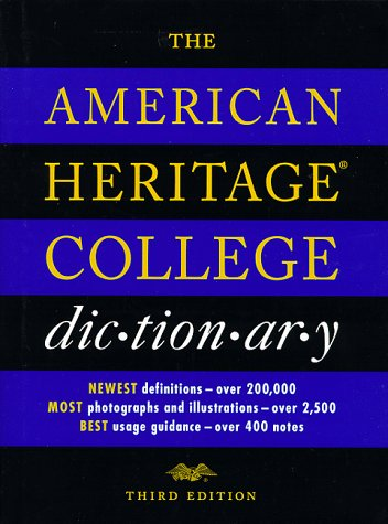 American Heritage College Dictionary  3rd 2000 edition cover
