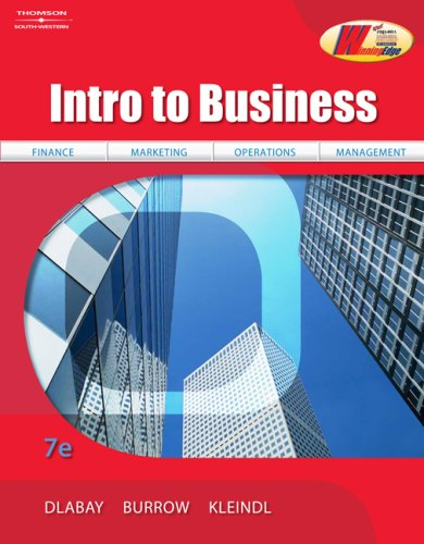 Intro to Business  7th 2009 (Revised) 9780538445610 Front Cover