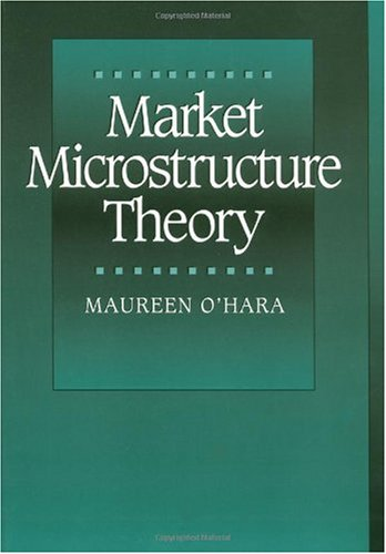 Market Microstructure Theory   1998 9780631207610 Front Cover