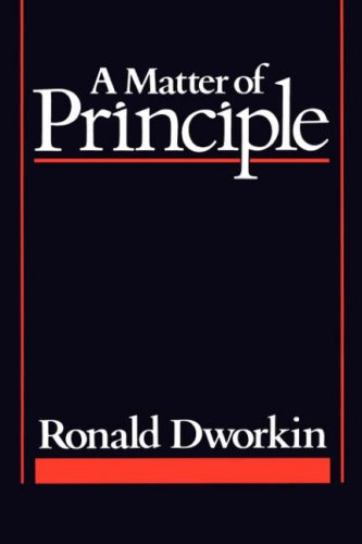 Matter of Principle   1985 edition cover