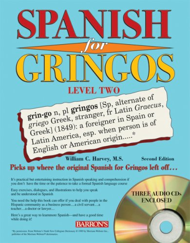 Spanish for Gringos Level 2 with Audio CDs  2nd 2008 (Revised) edition cover