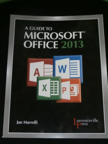 GUIDE TO MICROSOFT OFFICE 2013 N/A edition cover