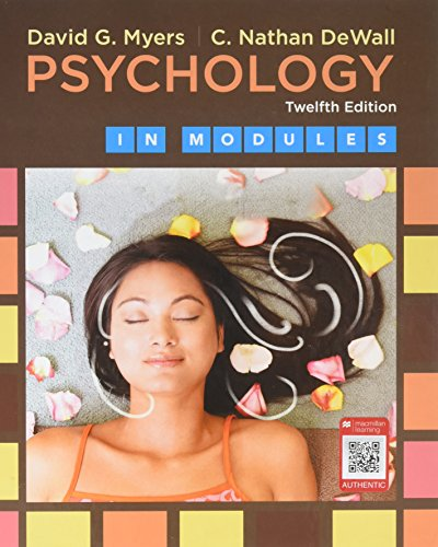Psychology in Modules  12th 2018 9781319050610 Front Cover