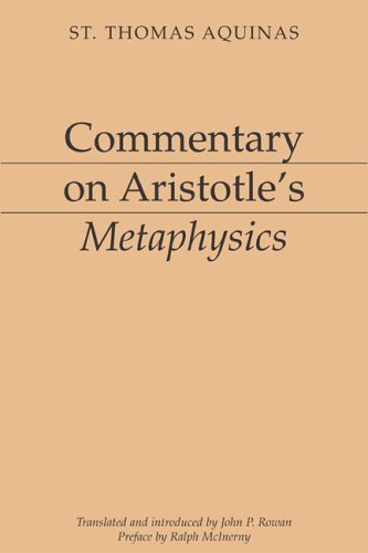 Commentary on Aristotle's Metaphysics   1995 edition cover