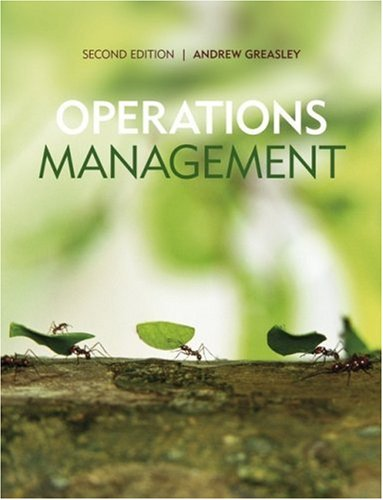 Operations Management  2nd 2009 9780470997611 Front Cover