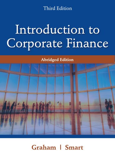 Introduction to Corporate Finance  3rd 2012 (Abridged) edition cover