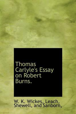 Thomas Carlyle's Essay on Robert Burns N/A edition cover