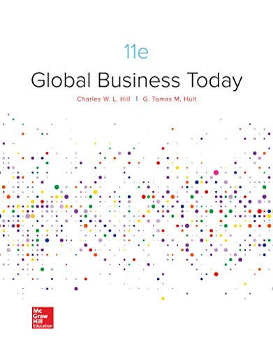 Loose-Leaf Global Business Today  11th 9781260780611 Front Cover