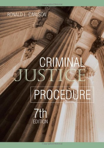 Criminal Justice Procedure  7th 2005 (Revised) edition cover