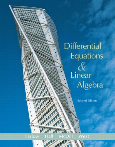 Differential Equations and Linear Algebra  2nd 2007 (Revised) 9780131860612 Front Cover