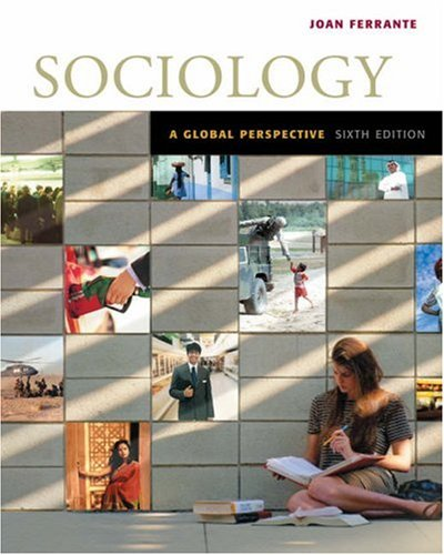 Sociology A Global Perspective 6th 2006 edition cover