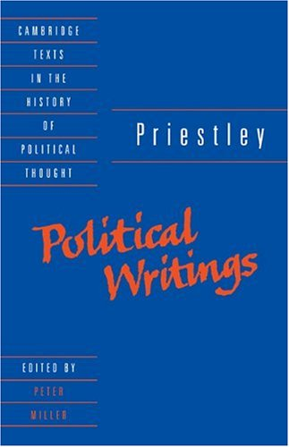 Priestley Political Writings  1993 edition cover