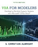 Vba for Modelers: Developing Decision Support Systems With Microsoft Office Excel  2015 edition cover