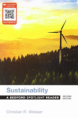 Sustainability A Bedford Spotlight Reader 2nd 2019 9781319056612 Front Cover