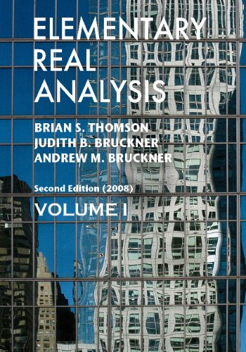 Elementary Real Analysis Second Edition. [Part One] N/A edition cover
