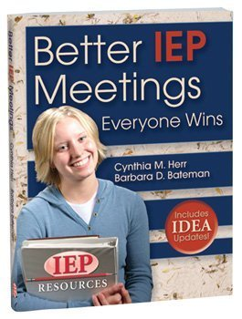 Better IEP Meetings  N/A 9781578615612 Front Cover