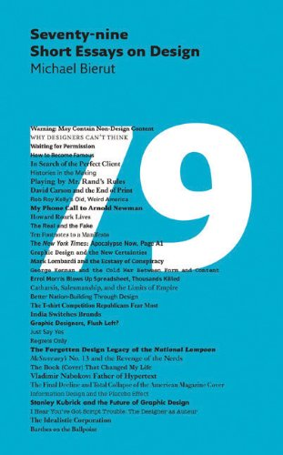 Seventy-Nine Short Essays on Design   2012 edition cover