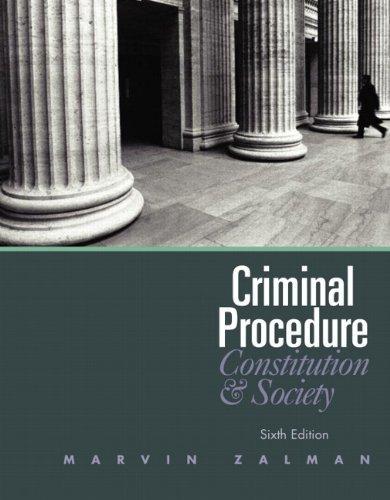 Criminal Procedure  6th 2011 edition cover