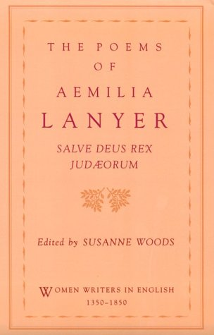 Poems of Aemilia Lanyer Salve Deus Rex Judaeorum  1993 edition cover