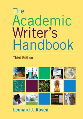 Academic Writer's Handbook  3rd 2012 edition cover
