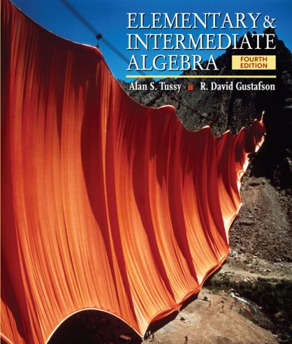 Elementary and Intermediate Algebra  4th 2009 (Revised) edition cover