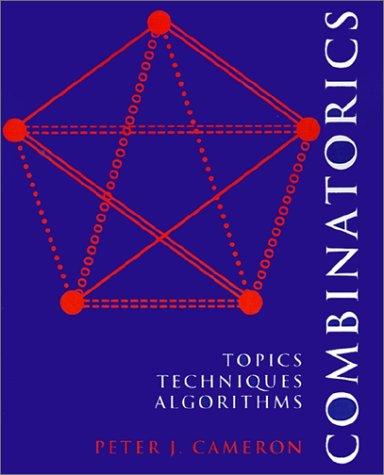 Combinatorics Topics, Techniques, Algorithms  1994 edition cover