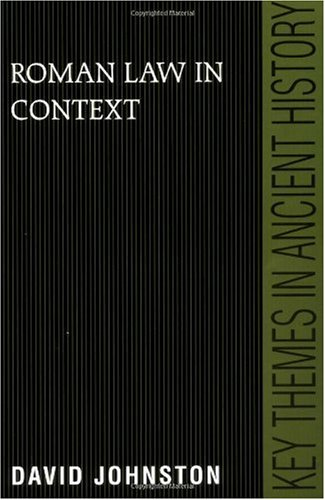 Roman Law in Context   1999 edition cover