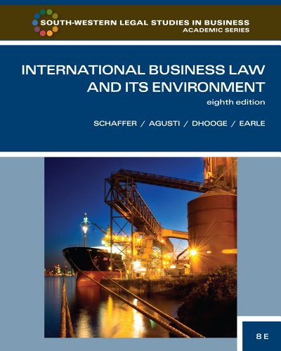 International Business Law and Its Environment  8th 2012 9780538473613 Front Cover