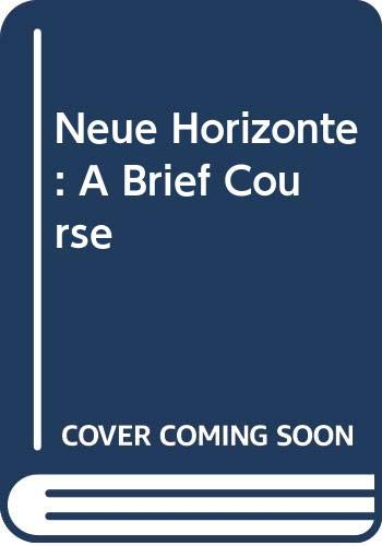 NEUE HORIZONTE:BRIEF CRSE.>INS N/A 9780618098613 Front Cover