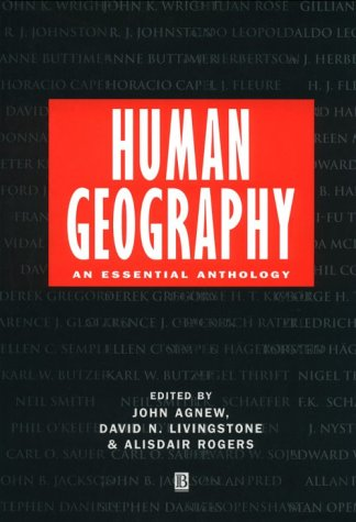 Human Geography An Essential Anthology  1996 edition cover