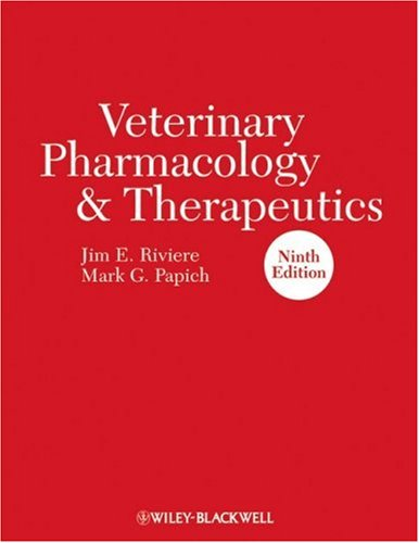 Veterinary Pharmacology and Therapeutics  9th 2008 9780813820613 Front Cover