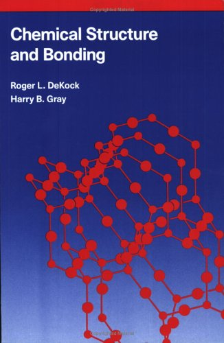 Chemical Structure and Bonding  2nd (Reprint) edition cover