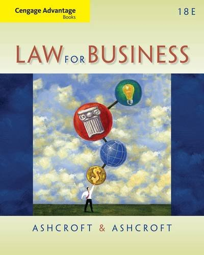 Law for Business  18th 2014 edition cover