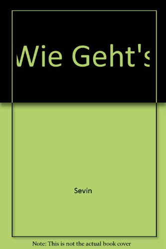 Wie Geht's  7th 2003 9780030352614 Front Cover