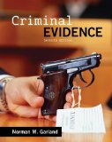Criminal Evidence  7th 2015 edition cover