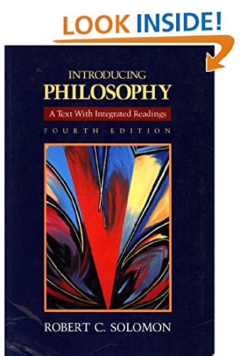 Introducing Philosophy : A Text with Integrated Readings 4th 1989 edition cover