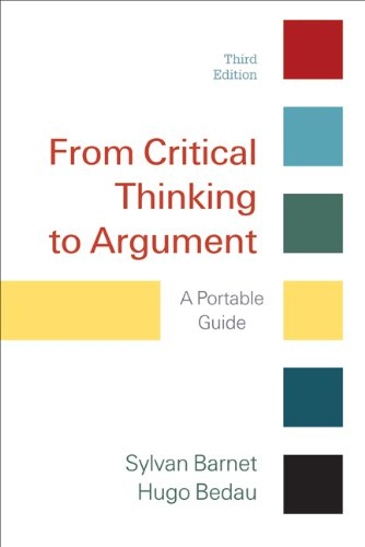 From Critical Thinking to Argument A Portable Guide 3rd 2011 edition cover